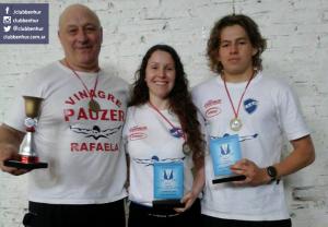 Héctor Picard, Noelia Barberis y Serafín Rojas.