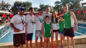 Representantes de Unión de Sunchales en San Jerónimo Norte (foto natación Unión).