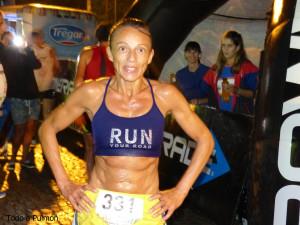 Patricia Ponce, ganadora en la general femenina.