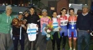 Todo el grupo del Club Ciclista de Rafaela.