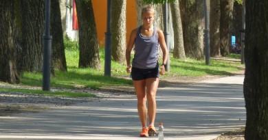 Sofia Kloster entrenando