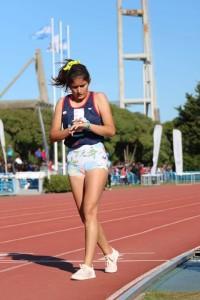 Angelina Zanatta, campeona de marcha U14.
