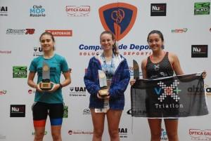 Catalina Ingaramo, a la izquierda. (Foto Compañía de Deportes).