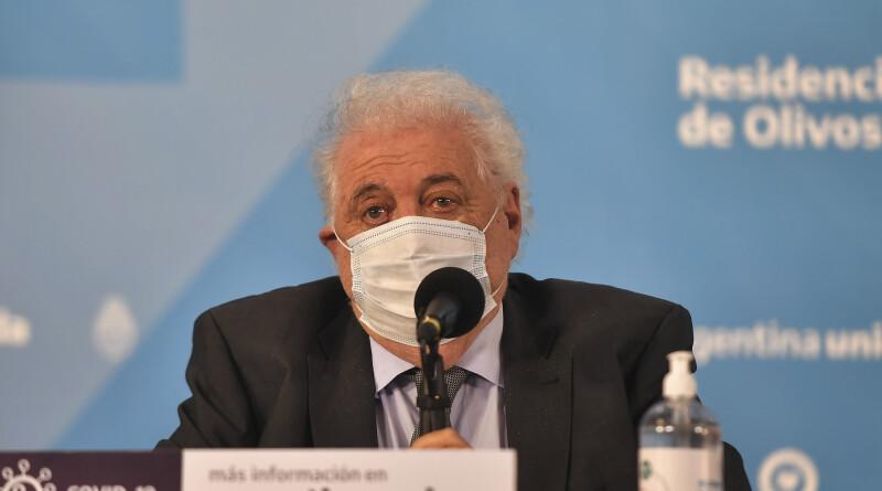 zzzznacp2NOTICIAS ARGENTINAS BAIRES, AGOSTO 12: El ministro Gines Gonzalez Garcia  durante el anuncio de la produccion de la vacuna contra el coronavirus en Olivos. Foto NA: VICTOR CARREIRA/POOL/TELAM/NAzzzz